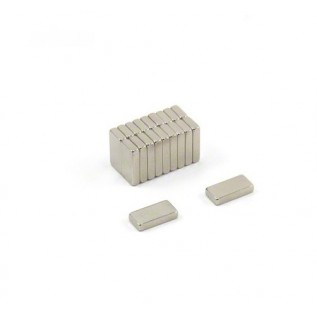 Магнит NdFeB N38 10х5х2 сила сцепления: 1.30 кг