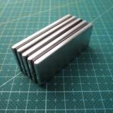 Магнит NdFeB N38 40х20х2 мм сила сцепления: 6.30 кг