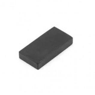 Неодимовый магнит прямоугольник 15х3х2 мм N38 (black) сила сцепления: 0.9 кг