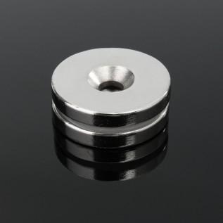 Магнит NdFeB N38 D6-d2хH2 сила сцепления: 0.40 кг