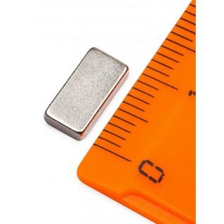Неодимовый магнит прямоугольник 10x6x2 мм сила сцепления: 1.5 кг