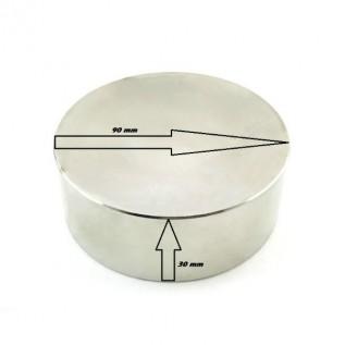 Магнит неодимовый - шайба D90*H30