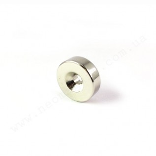Магнит с зенковкой D15-d7/4,5хh5 мм