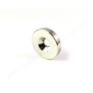 Магнит с зенковкой D25-d7,5/4,5хh3 мм