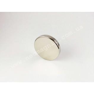 Маленький неодимовый магнит D30*H5