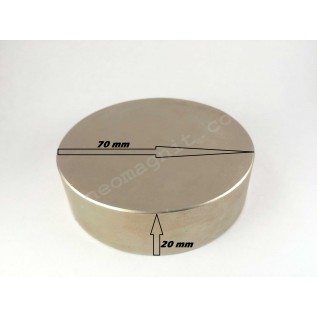 Неодимовый магнит - шайба D70*H20