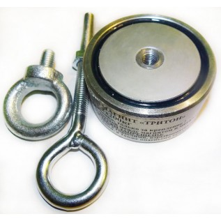 Двухсторонний поисковый магнит Тритон на 200 кг